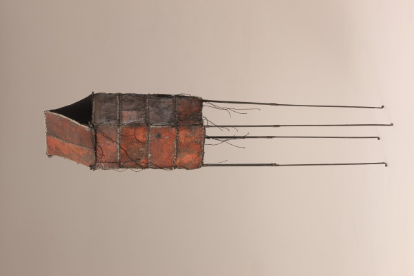 Tower forms, Jean Davey Winter, 1992, Crafts Council Collection: T110 and T111. Photo: Heini Schneebeli.
