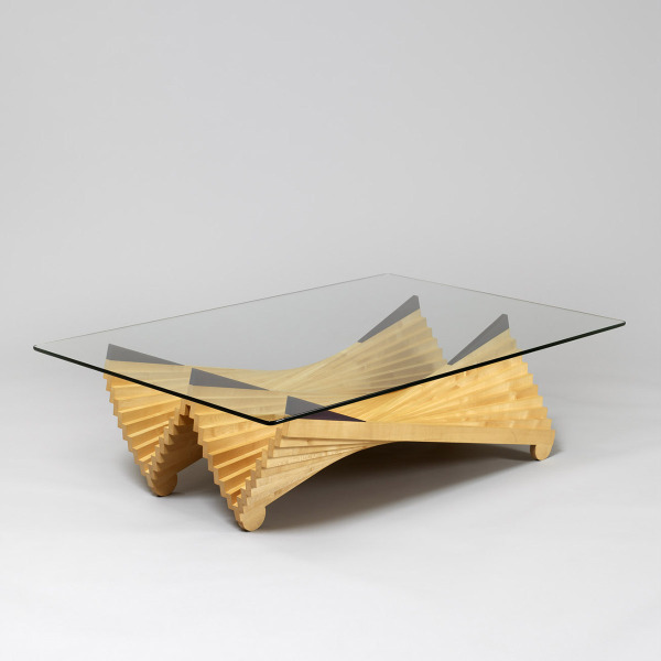 Double Wave Paraboloid Table, Tony McMullen, 1986, Crafts Council Collection: W68. Photo: Todd-White Art Photography.