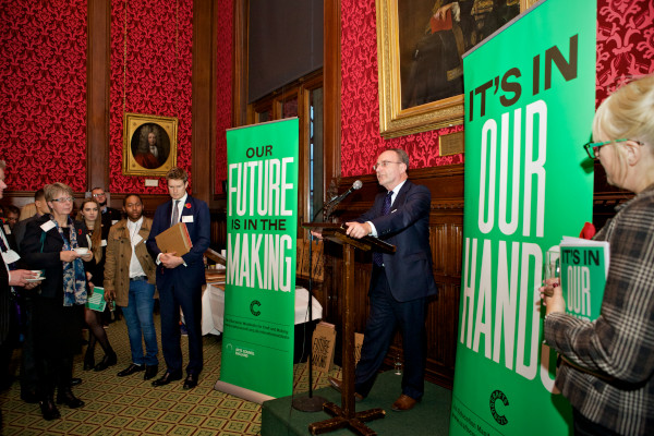 Education Manifesto launch at the House of Commons. Photo: Sophie Mutevelian.