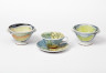 Footed Bowls, Cup and Saucer, Daphne Carnegy, 1991. Crafts Council Collection: P404a. Photo: Stokes Photo Ltd.