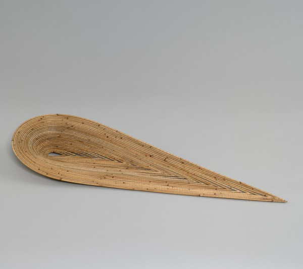 Long Leaf Shaped Dish With Veins, Dail Behennah, 1999, Crafts Council Collection: W126. Photo: Todd-White Art Photography.