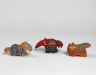 Tiger, Anteater, Zebra, Jim Edmiston, 1988, Crafts Council Collection: W77. Photo: Todd-White Art Photography.