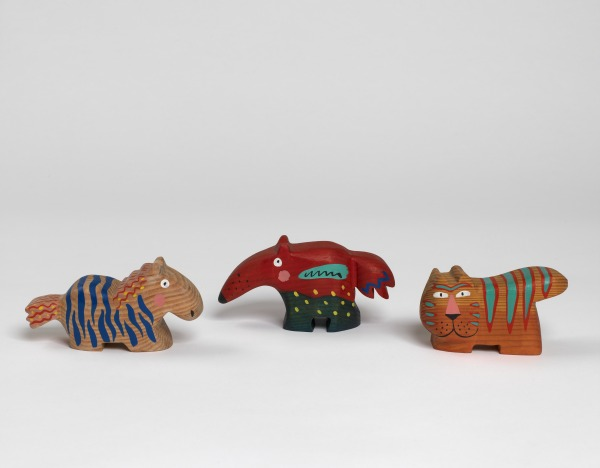 Tiger, Anteater, Zebra, Jim Edmiston, 1988, Crafts Council Collection: W77. Photo: Todd-White Art Photography.
