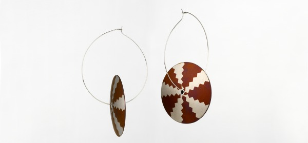 Earrings, Reema Pachachi, 1980, Crafts Council Collection: J129. Photo: Todd-White Art Photography.