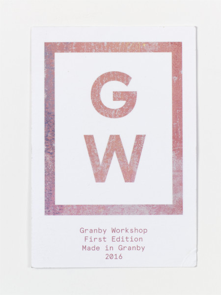Card 'Granby Worshop First Edition Made in Granby 2016', Granby Workshop, 2016, Crafts Council Collection: AM448.  Photo: Stokes Photo Ltd.
