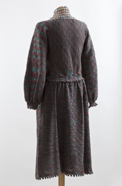 Knitted Dress, Anne Fewlass, 1979, Crafts Council Collection: T37. Photo: John Hammond