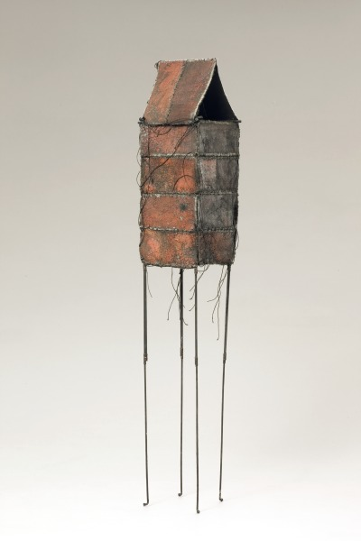 Tower form, Jean Davey Winter, 1992, Crafts Council Collection: T111. Photo: Heini Schneebeli.