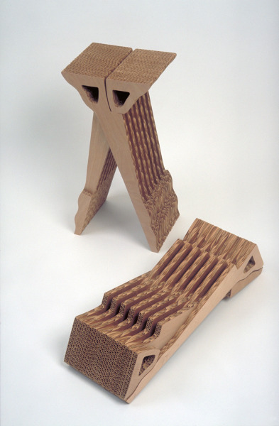 Folding Stools, Tomoko Azumi, 1995, Crafts Council Collection: W103 & W104. Photo: Todd-White Art Photography.