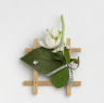 White Wooden Brooch, Ziza, 1978, Crafts Council Collection: J108. Photo: Todd-White Art Photography.