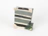 Square Dish with Stripes, Alison Britton, 2010 © Alison Britton. Crafts Council Collection: HC1088. Photo: Stokes Photo Ltd.