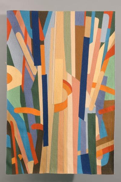 Rug, David Hill, 1981, Crafts Council Collection: T61. Photo: Heini Schneebeli.