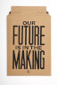 Envelope for the A4 handbill, Our Future is in the Making, Anthony Burrill, 2014. Crafts Council Collection: AM485. Photo: Stokes Photo Ltd.