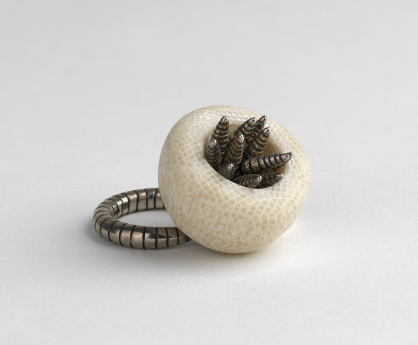 Ring: Cup With Moving Stripey Bits, Katy Hackney, 1996, Crafts Council Collection: J245. Photo: Todd-White Art Photography.