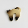 Tabby Cat Brooch, Cicada, 1973-76, Crafts Council Collection: J37. Photo: Todd-White Art Photography.