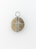 Pebble Wrapped with 1mm Stainless Steel Wire, David Poston, Crafts Council Collection: HC1084.  Photo: Stokes Photo Ltd.