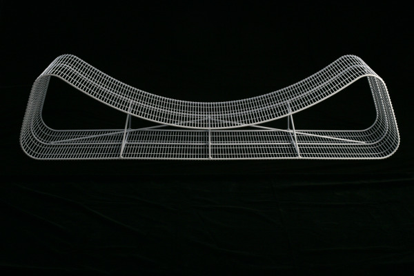 Wire Frame Reversible Bench, Shin Azumi, 2006, Crafts Council Collecton: W156. Photo: Heini Schneebeli.