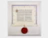 The Royal Charter of Incorporation of the Crafts Council of England and Wales, Donald Jackson, 1983. Crafts Council Collection: B23. Photo: Stokes Photo Ltd.