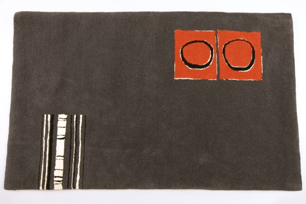 Tufted Rug No.80, Helen Yardley, 1986, Crafts Council Collection: T88. Photo: Heini Schneebeli.