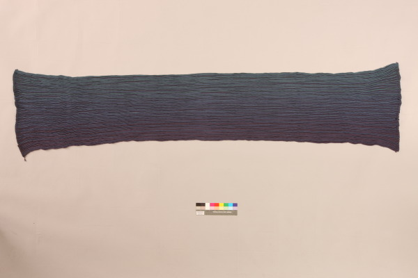 Pleated Stole, Ann Richards, 1991, Crafts Council Collection: T113. Photo: Heini Schneebeli.