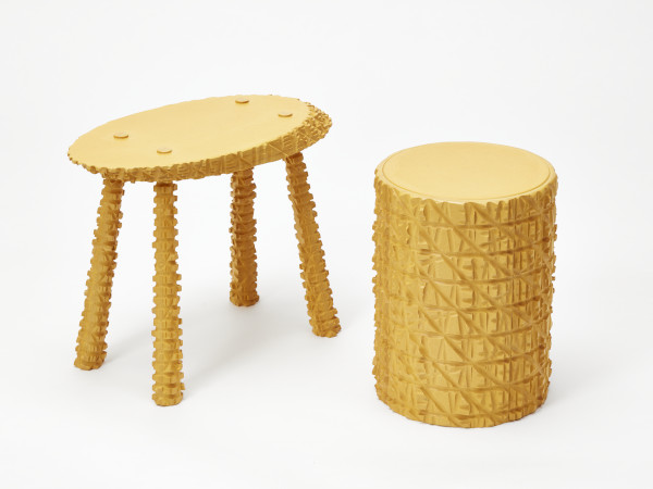 Rustic Stool series, Mark Laban, 2017. Crafts Council Collection: 2019.14. Photo: Stokes Photo Ltd.