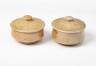 Butter Pot, Sarah Walton, 1980. Crafts Council Collection: P252a and P252b. Photo: Stokes Photo Ltd.