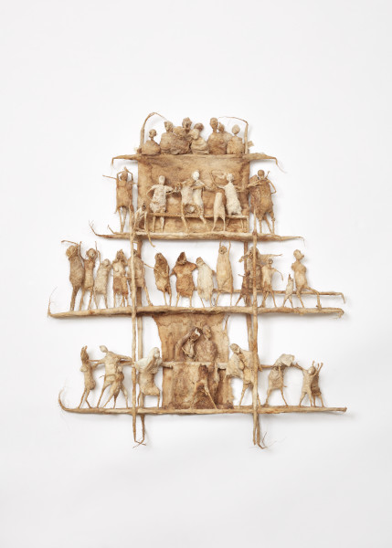 Figures on a Scaffolding IV, Tadek Beutlich. Crafts Council Collection: 2019.7. Photo: Stokes Photo Ltd.