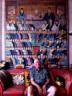 Kaffe Fassett at home on the occasion of his First Decade interview. Photograph by Gloria Lin, 2015. © Crafts Council.