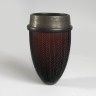 Black And Silver African Strap Vase, Anna Dickinson, 1992, Crafts Council Collection: G69. Photo: Todd-White Art Photography.